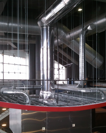 Duct Fan In An Enclosure : Single wall double grease duct