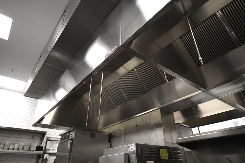 Type 1 Hoods Ducting ~ Self cleaning hood captiveaire