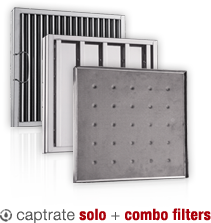 Baffle type grease filters for Commercial kitchen grease filters
